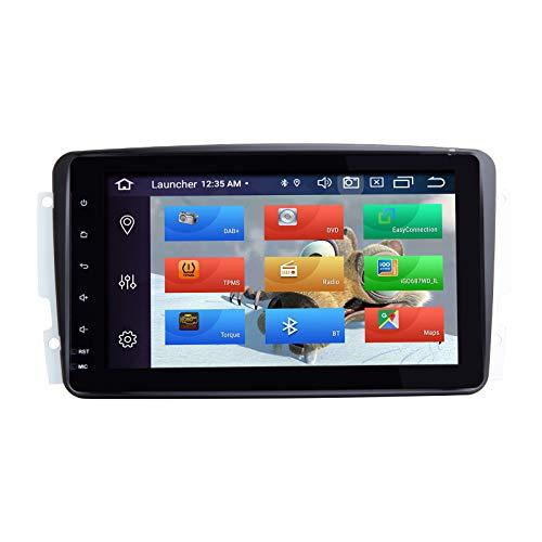 """ZLTOOPAI Lettore multimediale per auto per Mercedes Benz W209 W203 W168 W163 W463 Viano W639 Vito Vaneo Android 10 Octa Core 4G RAM 64G ROM 8"""" IPS Double Din Autoradio Audio Stereo Navigazione GPS"""