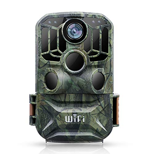 【New Version】 BZK WiFi Trail Game Camera- 24MP 1080P Waterproof Hunting Game Camera with Remote Control and Night Vision Motion Activated for Outdoor Scouting and Wildlife Monitoring