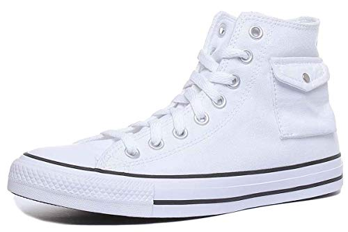 Converse Chuck Taylor All Star Pocket - Hi - Blanco/Negro/Blanco Canvas