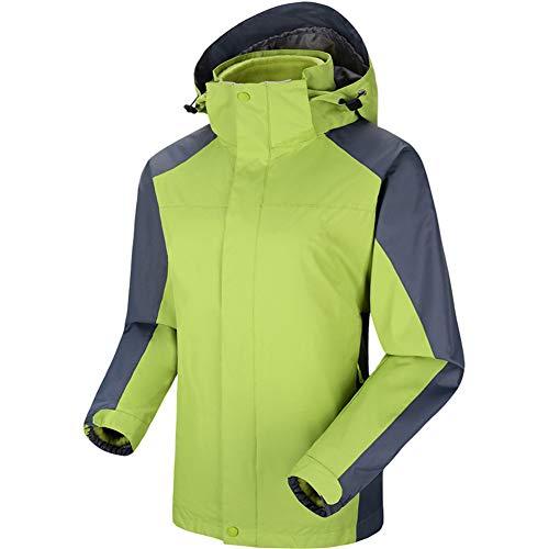 TBATM Vestes 3 en 1 en Velours pour Femmes, Manteau Coupe Et Extérieur en Molleton Détachable Intérieur Couple Survêtement Alpinisme,G,M