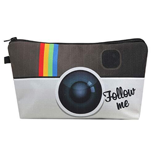Underleaf 1 stücke 3D Gedruckt Instagram Muster Frauen Kosmetiktasche Kulturbeutel Make-Up Tasche Reisetaschen Handtaschen