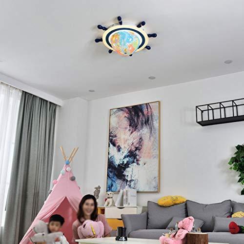 Ruota Globe Plafondlamp, kinderkamer, led, nachtlampje, slaapkamer, werkkamer, kinderkamer, school, verschillende park