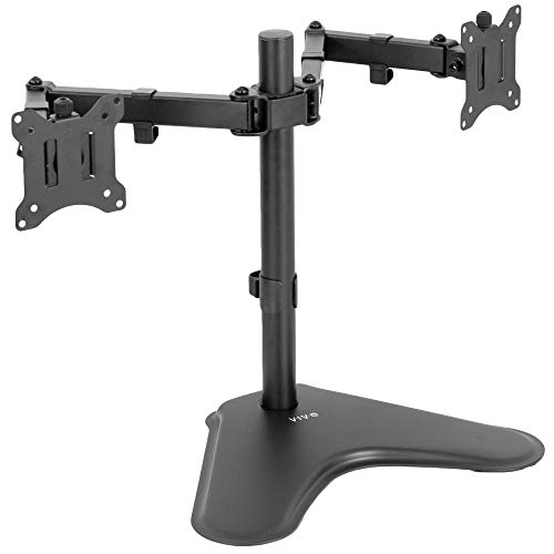 VIVO Dual Monitor Desk Stand Free-standing LCD mount, Holds in Vertical Position 2 Screens up to 30' (STAND-V002L)