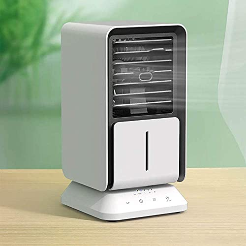 wangYUEQ Refrigerador de Aire, Aire Acondicionado portátil con Temporizador, refrigeradores evaporativos, humidificador, purificador, Ventilador de refrigeración de Escritorio para Oficina, hogar