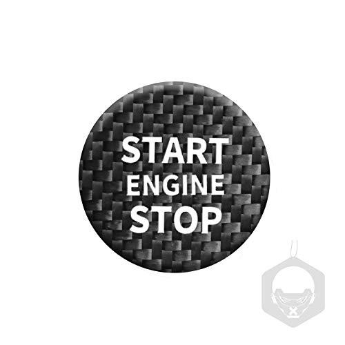 Etiqueta engomada arranque coche El inicio del motor del automóvil de fibra de carbono detiene la etiqueta engomada del anillo de encendido de encendido, pegatinas de encendido sin llave, para A-L-F-A