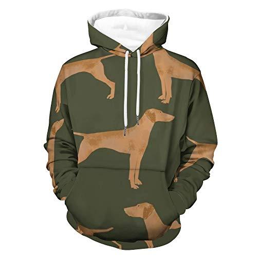 Vizsla - Sudadera unisex con capucha para perro, con capucha, estilo informal, cálido, 3XL