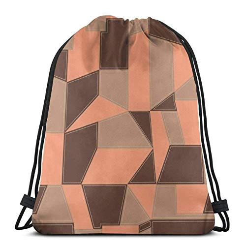Patrón geométrico de impresión cordón Bapa Sapa bolsa de cuerda Cinch impermeable nylon bolsa de playa para gimnasio compras deporte yoga