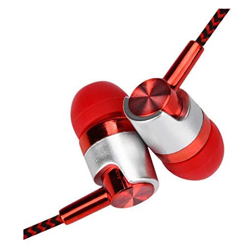 Dorical In Ear Kopfhörer, Headset Sport Ohrhörer Schweißresistent Stereo Eingebautes Mikrofon für iPhone, Huawei und Samsung Ohrhörer Headset Promo(Orange,One Size)