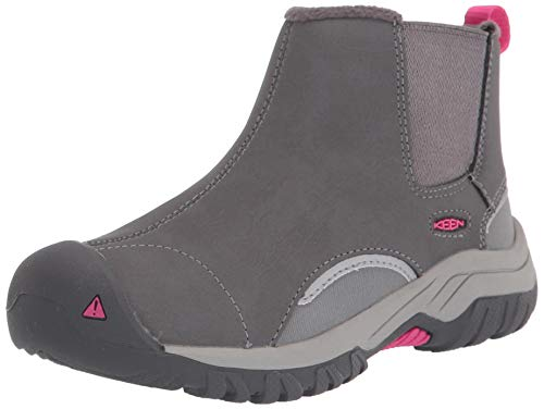KEEN Kootenay 3 Chelsea Boot, Steel Grey/Pink Peacock, 4 US Unisex Big Kid