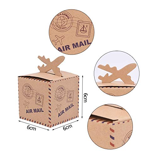 10/20/30pcs Mini Suitcase Candy Boxes, Travel Gift Box, Paper Wedding Birthday Christmas Favor Present Boxes Packing ,Thank You (Color : 6cm no Rope, Gift Bag Size : 20pcs)