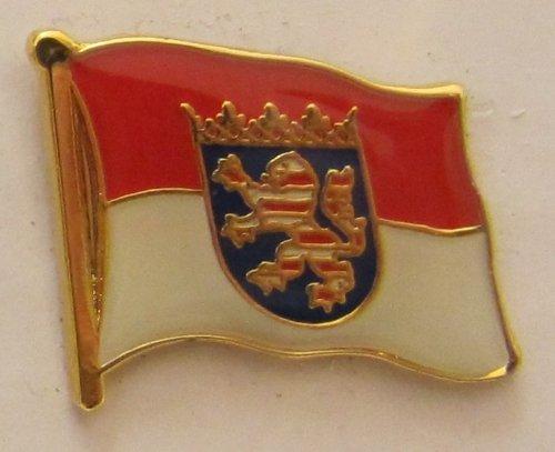 Pin Anstecker Flagge Fahne Hessen Landesflagge Flaggenpin Badge Button Flaggen Clip Anstecknadel