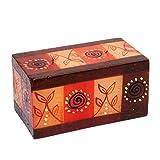 Kapula - Vela de Comercio Justo, Pintada a Mano en Sudáfrica, diseño de Safari, Cubo de Bloques de 7 x 14 x 7 cm, 2 mechas