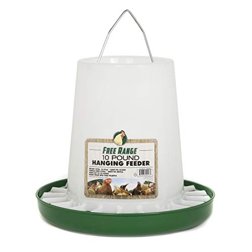 Harris Farms 1000290 Free Range Plastic Hanging Poultry Feeder, 10 Pound, White