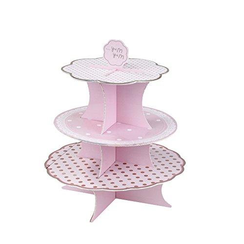 Talking Tables Pink N Mix-taartstandaard voor een thee party of een verjaardag, roze