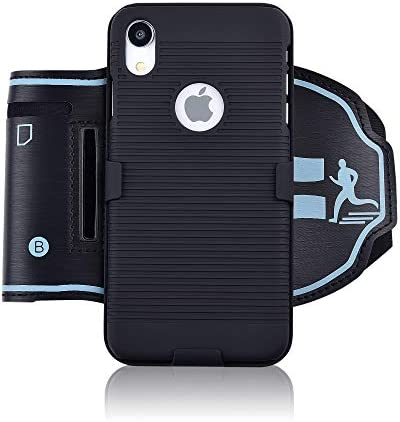 igooke iPhone XR Sports Armband Hybrid Hard case Cover with Sports Armband Combo Running Case product image