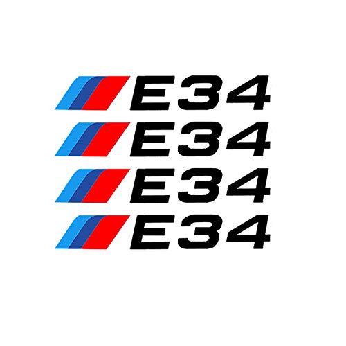ZYHZJC 4Pcs Llantas de aleación de Coche Pegatinas de Rueda Calcomanías de Vinilo para Llantas para BMW E46 E60 E90 E70 E34 E36 E87 E30 E39 E53 E61 E92
