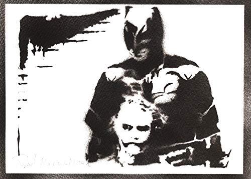 Poster Batman y Joker Grafiti Hecho a Mano - Handmade Street Art - Artwork