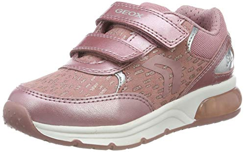 Geox J SPACECLUB Girl B, Baskets Fille, Rose (Antique Rose...