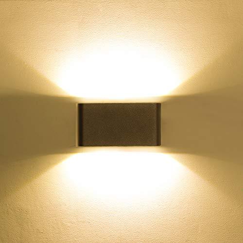 HLFVLITE 2002 Led-wandlamp, up& down-effect, wandverlichting, 6 W, 3000 K, warmwit, waterdicht IP54 [energieklasse A ]