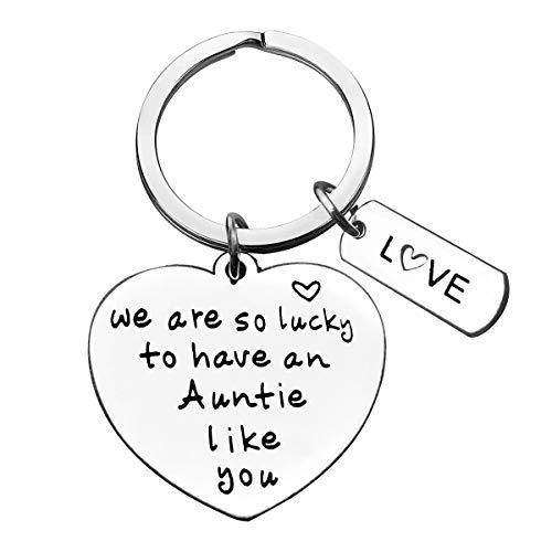 Aunt Gift Keyring We are So Lucky to Have an Auntie Like You Keychain Christmas...