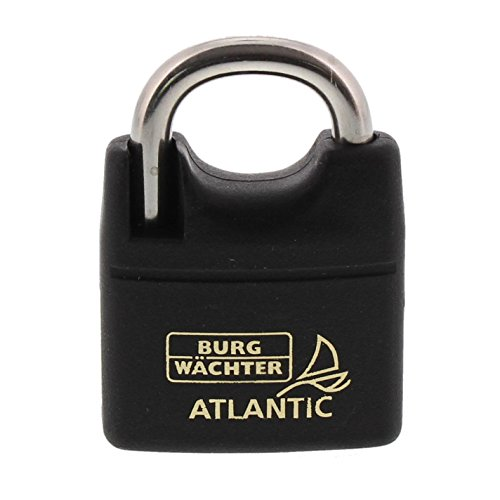 BURG-WÄCHTER Vorhängeschloss, 6 mm Bügelstärke, 2 Schlüssel, Atlantic 217 F 40 Ni SB