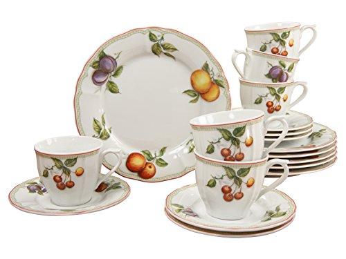 Creatable Flora Orchard Set da caffè, in Porcellana, Colore: Multicolore, 18 Pezzi