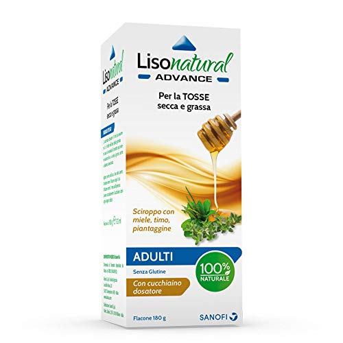 Lisonatural Advance Adulti – sciroppo con ingredienti di origine vegetale per tosse secca e grassa a base di miele, piantaggine e timo