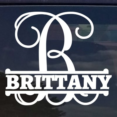 Eggleston Design Co Custom Personalized Vine Monogram Name Letter...