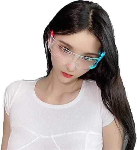 Gafas LED, vidrios emisores de luz, vidrios electrónicos de Sombra de Sol futuros, Jugar a Roles y Festivales,1 Pack