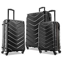 American Tourister Arrow Expandable Hardside Luggage, Black, 3-Piece Set (21/24/28)