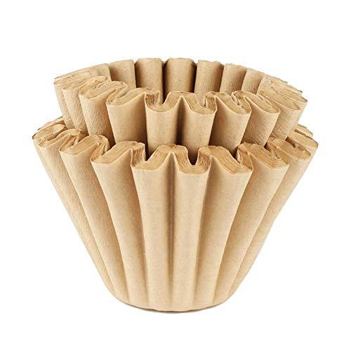 Blentude 50 Stück Kuchen-Kaffeefilterpapier Handgewaschenes Einweg-Kaffeefilterpapier - Ersatz für Kaffeefilter aus Holzfasern
