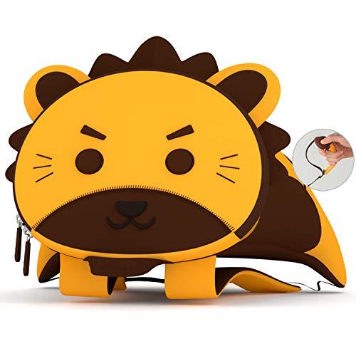 NOHOO Toddler Backpack Kids Safety Leash Backpack with Purse (Lion Set)