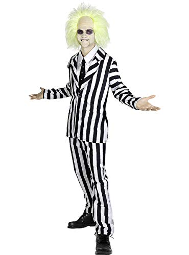 Funidelia | Disfraz de Beetlejuice Oficial para Hombre Talla L Tim Burton, Pelculas de Miedo, Terror