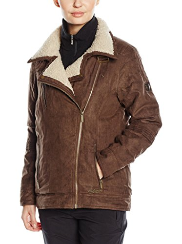 Craghoppers Damen Regenjacke Gatenby Biker, Saddle Brown, 36