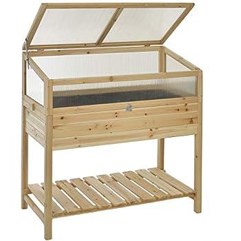 GASPO - Jardinera para balcón y jardín, de madera, 100 x 50 x 70 ...