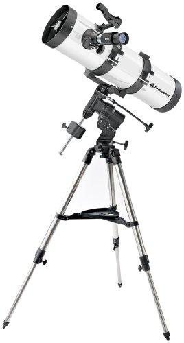 Bresser Teleskop Newton Reflektor 130/650 EQ3 mit stabiler äquatorialer Montierung und Dreibeinfeldstativ inklusive umfangreichen Zubehör zum perfekten Start in die Astronomie