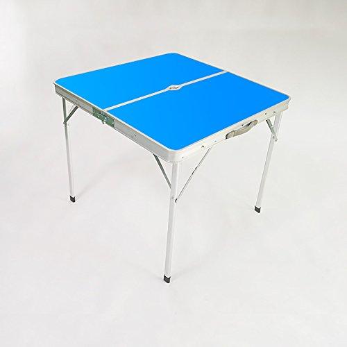 YXF-Metalen klaptafel Outdoor campingtafels en -stoelen, draagbare vierkante houten klaptafels en computertafels met handgrepen en parasolgaten