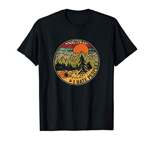 I hate People Camping tshirt funny Camping T Shirt T-Shirt
