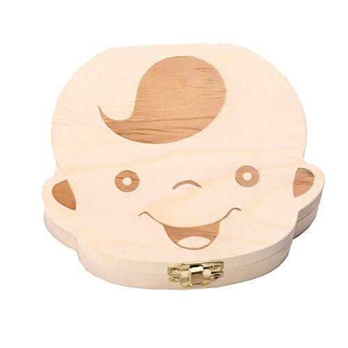HelloGO 子供 乳歯ケース 木製 乳歯