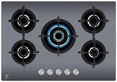 Electrolux EGG7537M Piano Cottura Gas on Glass, GOG line 75 cm, Inox Specchiato