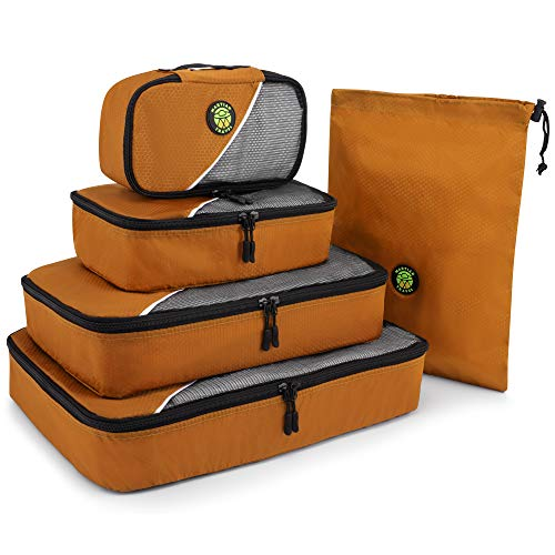 Martian Travel Packing Cubes 5 stks Value Set, lichtgewicht koffer Organisator Tassen Perfect voor het verpakken van korte reizen met 40L Capaciteit