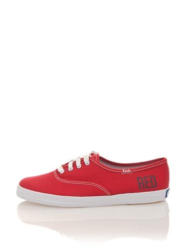 Keds Damen Champion Sneaker, Rot, 39.5 EU