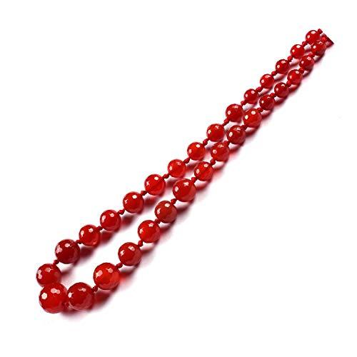 6 mm a 14 mm de piedras preciosas naturales redondas de ónix rojo semipreciosas facetadas cuentas redondas para la fabricación de joyas | Collar de piedras preciosas | Pulsera de piedras preciosas