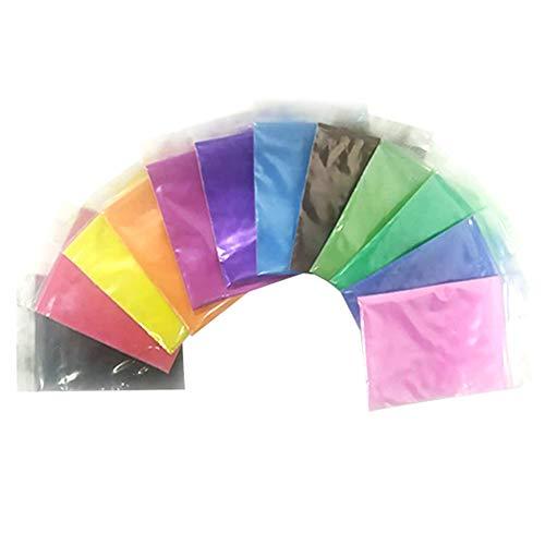 Elibeauty - Kit de teñido anudado para ropa, tela de graffiti, pintura colorida, polvo de teñir para niños, adultos, manualidades, camisetas, vaqueros, zapatos, bolsas