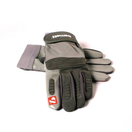 FKG-01 American Football Handschuhe Linebacker, Farbe silber, Gr 2XL