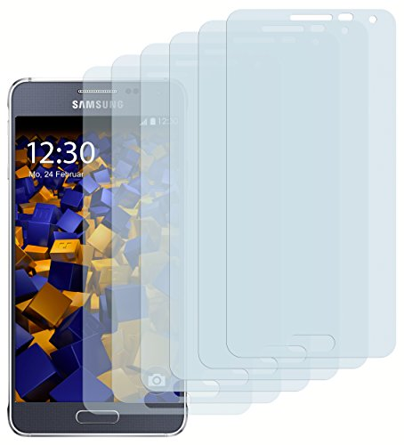 mumbi Schutzfolie kompatibel mit Samsung Galaxy Alpha Folie klar, Bildschirmschutzfolie (6x)