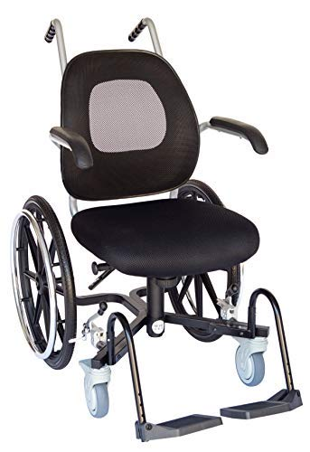 Troy Technologies | Daily Narrow Slim-Line Wheelchair (w/Footplates, Handrings & Push Handles)