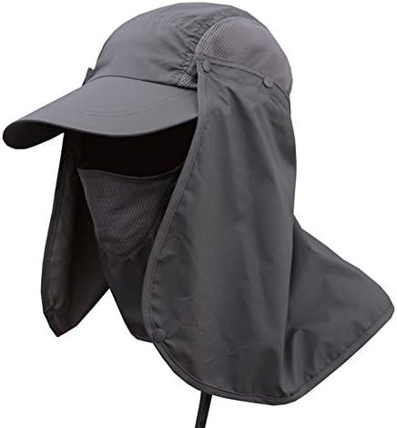 Oak-Pine Men Women Outdoor Sport Folding Hat Fully Sun (UPF50+) Neck Protection