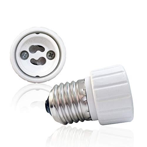 VARICART E27 bis GU10 Lampensockel Konverter, Glühlampenfassung Adapter, Maximale Wattleistung 500W Hitzebeständiger Anschlussstecker, Keine Brandgefahr bis zu 220 Grad (2-er Packung)