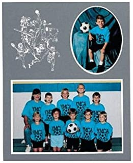 SPORTS Player/Team 7x5/3x5 sports MEMORY MATES Gray cardstock double photo frame sold in 10's - 5x7